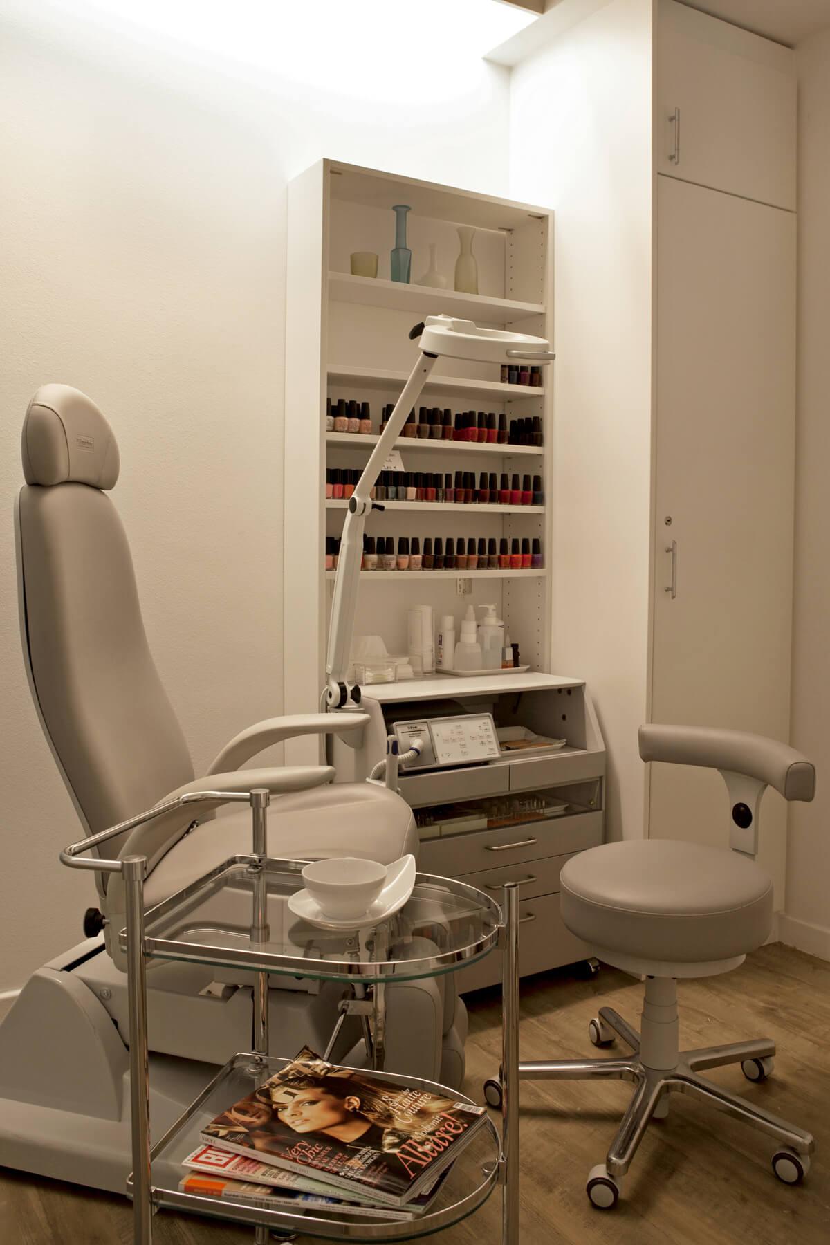 Behandlungraum im Kosmetikstudio in München Solln