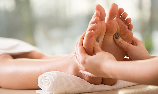 Fußreflexzonen Massage im Kosmetikstudio in München