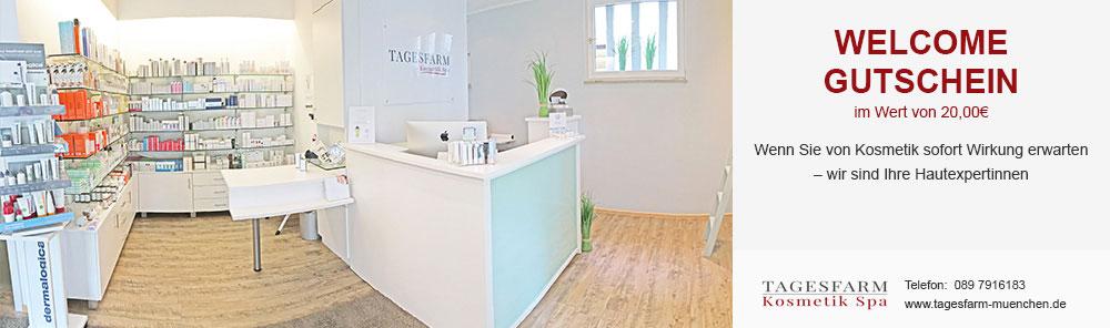 Welcome Gutschen: Tagesfarm Kosmetik Spa in München