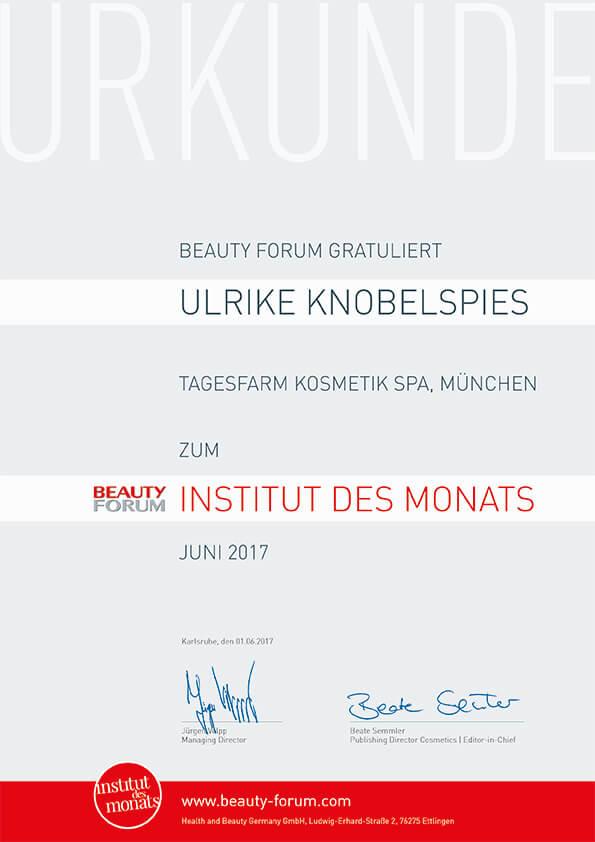 Institut des Monats