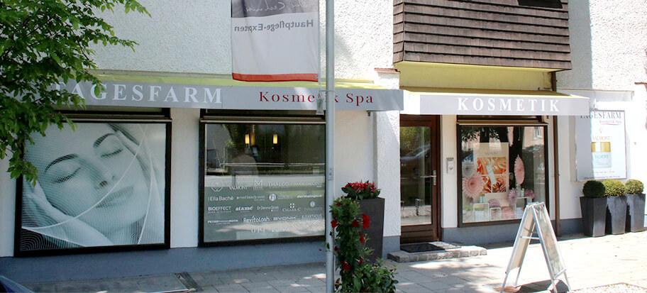 Außenansicht Tagesfarm Kosmetik Spa in München Solln