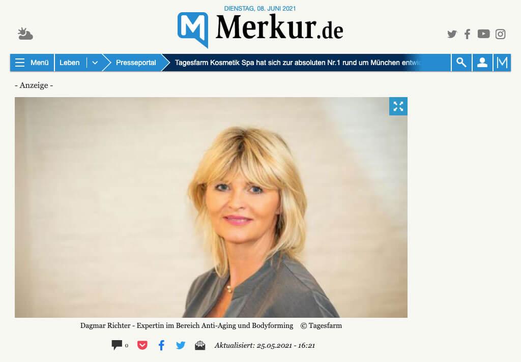 Tagesfarm im Münchner Merkur: